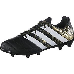 adidas ACE 16.3 FG Leather Fußballschuhe Herren schwarz/gold