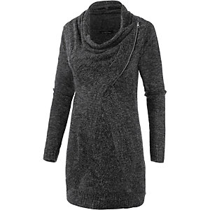 Only Strickjacke Damen anthrazit melange