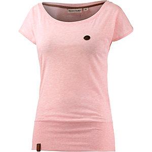 Naketano Wolle VIII T-Shirt Damen rosa melange
