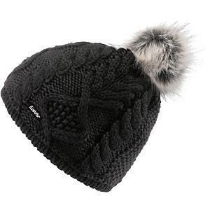 Eisbär Mirella Bommelmütze Damen schwarz