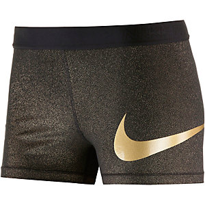 Nike Pro Dry Fit Tights Damen schwarz/gold