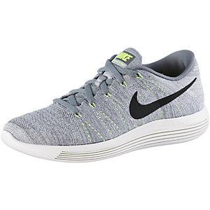 Nike Lunarepic Low Flyknit Laufschuhe Herren grau/weiß