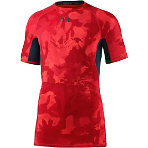 Under Armour HeatGear Kompressionsshirt Herren rot