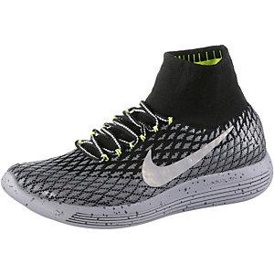 Nike Lunarepic Flyknit Shield Laufschuhe Herren schwarz/silber/grau