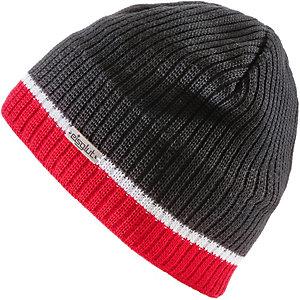 Eisglut DUVAL MERINO Beanie schwarz/ rot