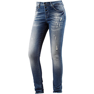 Only Liberty Skinny Fit Jeans Damen destroyed denim