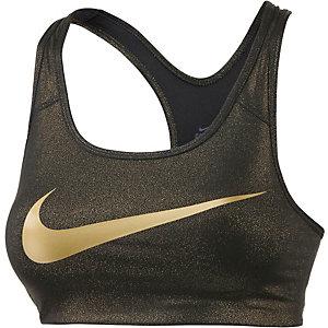 Nike Pro Classic Sport-BH Damen schwarz/gold
