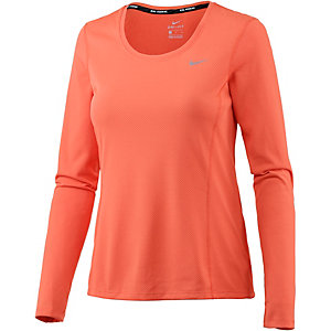 Nike Dri-Fit Contour Laufshirt Damen orange