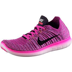 Nike Free Run Flyknit Laufschuhe Damen pink