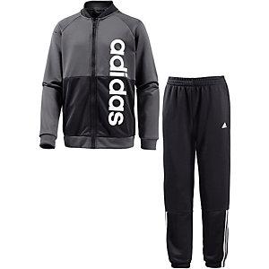 adidas Trainingsanzug Jungen grau/schwarz