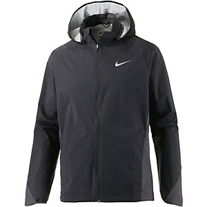 Nike Shield Hooded Zoned Laufjacke Herren schwarz