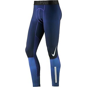 Nike Pro Hyperwarm Tights Herren blau