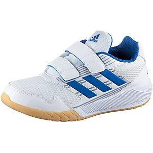 adidas AltaRun Hallenschuhe Kinder weiß/blau