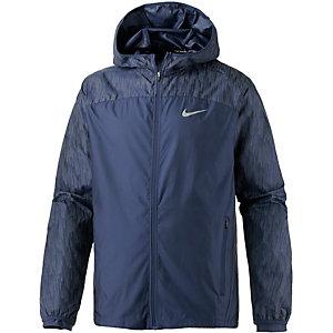 Nike Shield Flash Hooded Racer Laufjacke Herren blau
