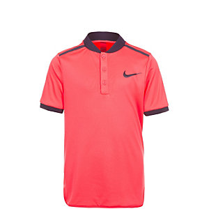 Nike Court Advantage Solid Tennis Polo Kinder koral / blau