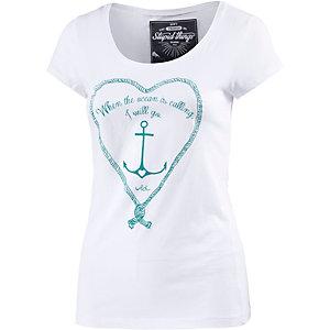 WLD Wild at Heart Printshirt Damen weiß