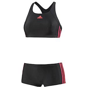 adidas Bustierbikini Damen schwarz/rot