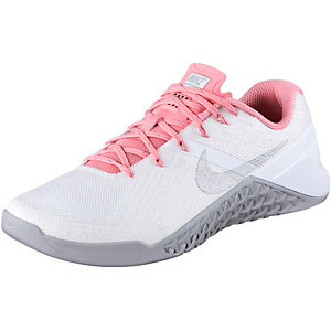 Nike Metcon 3 Fitnessschuhe Damen weiß/rosa