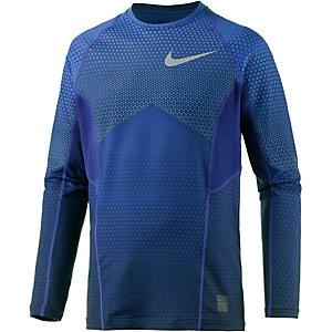 Nike Pro Hyperwarm Funktionsshirt Herren blau