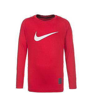 Nike Pro Compression Kompressionsshirt Kinder rot / weiß