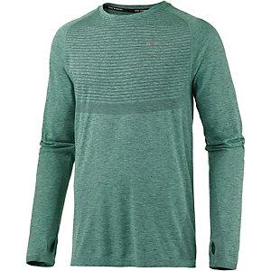 Nike Dri-Fit Knit Laufshirt Herren grün