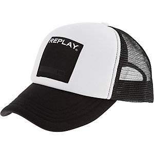 REPLAY Cap Herren weiß/schwarz