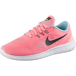 Nike Free Laufschuhe Mädchen apricot