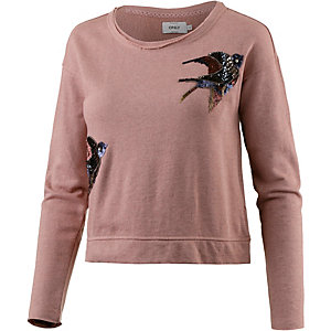 Only Sweatshirt Damen dunkelrosa
