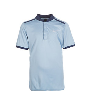 Nike Court Advantage Solid Tennis Polo Kinder blaugrau / dunkelblau