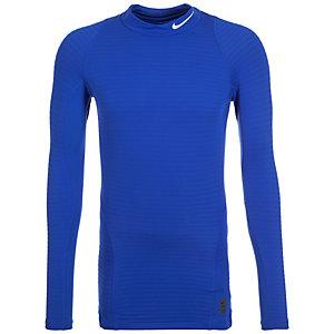 Nike Warm Compression Mock Kompressionsshirt Herren blau