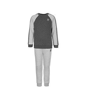 adidas Fleece Quilted Trainingsanzug Kinder grau / dunkelgrau