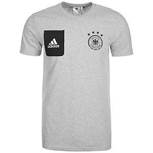 adidas DFB Staff T-Shirt Fanshirt Herren grau / schwarz