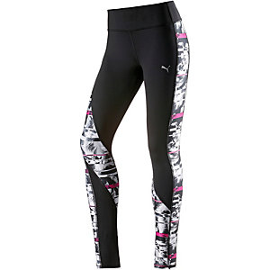 PUMA Clash Tights Damen schwarz/weiß/pink