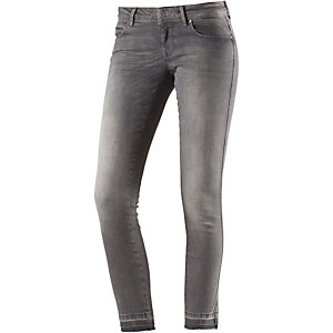 Only Coral Skinny Fit Jeans Damen grey denim
