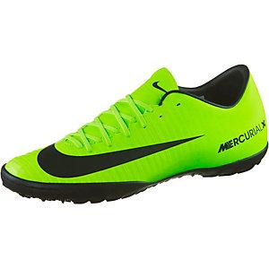 Nike MERCURIALX VICTORY VI TF Fußballschuhe Herren neongrün/schwarz