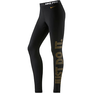 Nike Pro Tights Damen schwarz/gold