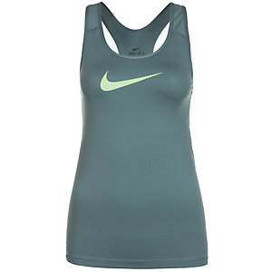 Nike Pro Dry Funktionstank Damen graugrün / gelb