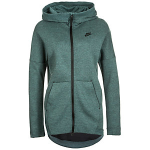 Nike Tech Fleece Cape Kapuzenjacke Damen graugrün / schwarz