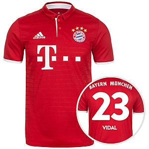 adidas FC Bayern München 16/17 Heim Vidal Fußballtrikot Herren rot / weiß