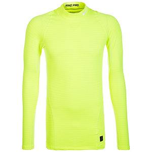 Nike Warm Compression Mock Kompressionsshirt Herren gelb / weiß