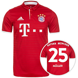 adidas FC Bayern München 16/17 Heim Müller Fußballtrikot Herren rot / weiß