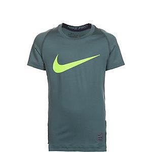 Nike Pro Hypercool Compression Kompressionsshirt Kinder grün / neongelb