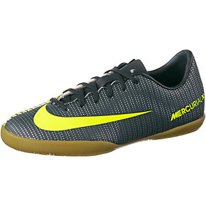 Nike JR MERCURIALX VAPOR XI CR7 IC Fußballschuhe Kinder grün/grau