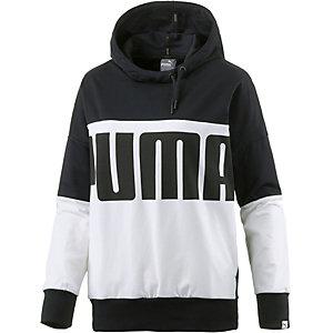 PUMA Style Rebel Hoodie Damen schwarz/weiß