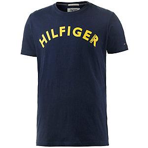 Tommy Hilfiger T-Shirt Herren dunkelblau/gelb