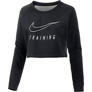 Nike Dry Versa Crop Langarmshirt Damen schwarz