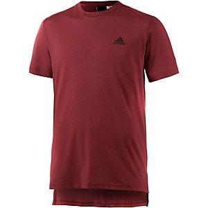 adidas ID 3S T-Shirt Herren dunkelrot