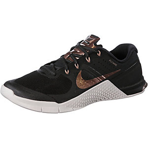 Nike Metcon 2 Fitnessschuhe Damen schwarz/roségold