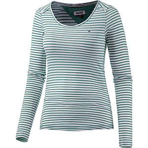 Tommy Hilfiger Langarmshirt Damen grün/weiß