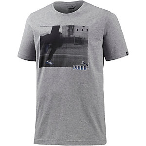 PUMA Sneaker Photo T-Shirt Herren grau